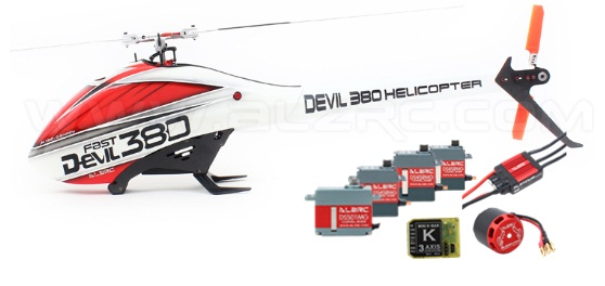 ALZRC - Devil 380 FAST FBL Super Combo - Black - RC 380 Helicopter alzrc devil 450 pro v2 fbl super combo rc helicopter kit rc electric helicopter 480n frame kit power driven helicopter drone
