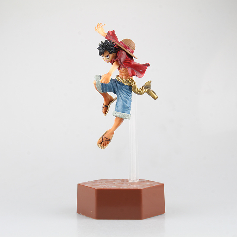 28CM Japan Anime ONE PIECE Luffy jumping in the air High quality PVC Collectible model Action figure Toy for boy Brinquedos the one in a million boy