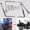 Chrome Steel Saddle Bag Support Bar Mounts Bracket Fits For Yamaha V Star XVS 1100 Free Shipping