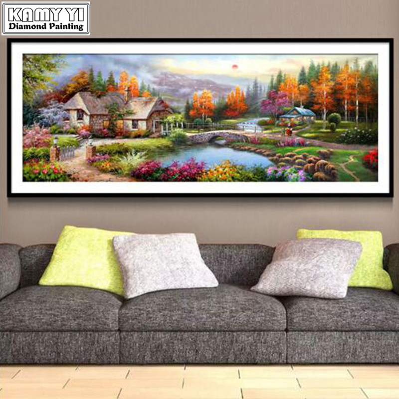 New 5D Diy Diamond Painting Beautiful Village Landscape Diamond Embroidery Needlework Picture Rhinestone Home Decoration XY20New 5D Diy Diamond Painting Beautiful Village Landscape Diamond Embroidery Needlework Picture Rhinestone Home Decoration XY20