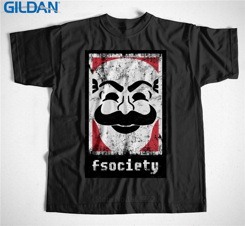 100 Cotton Men 39 S Crew Neck Novelty Short Sleeve Fsociety Mr Robot Tees For Boy in T Shirts from Men 39 s Clothing