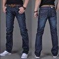 Novo 2016 homens puro algodão em linha reta calças de brim/Grande metros casuais calças de brim dos homens marca de moda cultivar a moralidade Alta qualidade