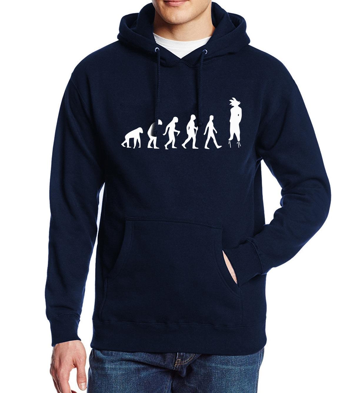 Autumn Winter Fleece Sweatshirt For Men 2018 New Fashion Streetwear Dragon Ball Z Anime Hoody Harajuku Brand Mens Hoodies Jacket