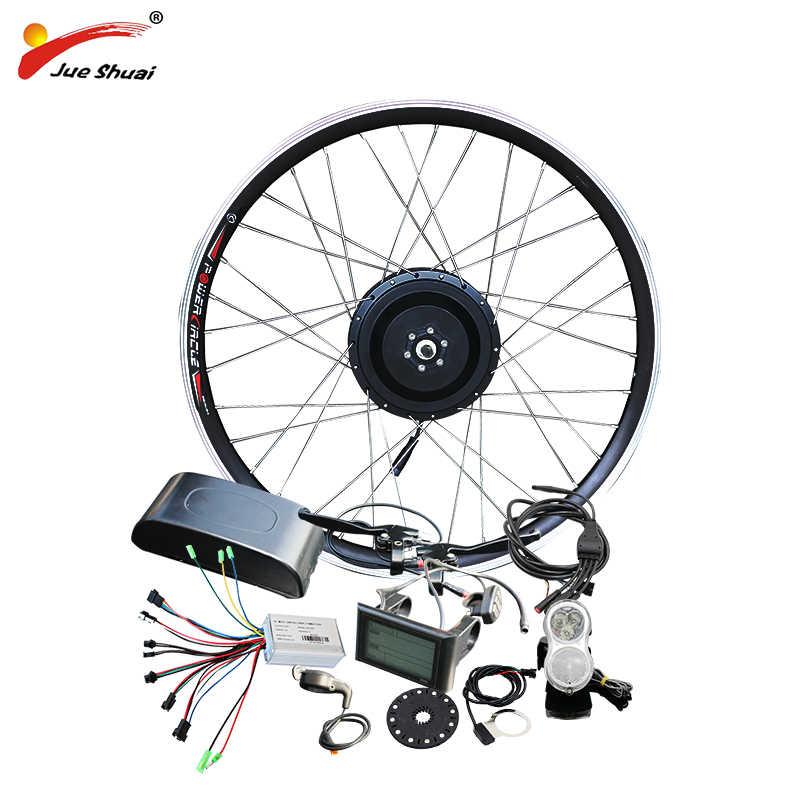 """Jueshuai 48 V 500 W moyeu moteur E vélo Ebike Kit de Conversion pour 26 """"700C roue avant sans brosse roue électrique pour vélo électrique"""