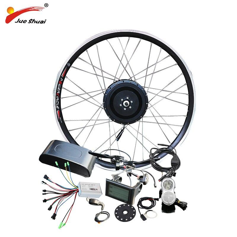 Jueshuai 48 v 500 w Hub Moteur E Vélo Ebike Kit de Conversion pour 26 700C Roue Avant Brushless Électrique roue pour Vélo Électrique