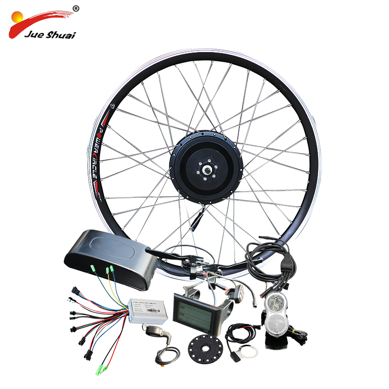 jueshuai 48V 500W Hub Motor E Bicycle Ebike Conversion Kit for 26 700C Front Wheel Brushless Electric Wheel for Electric Bike e bike 24v 500w motor with disc brakes hub electric bicycle ebike conversion kit front or rear wheel new details about