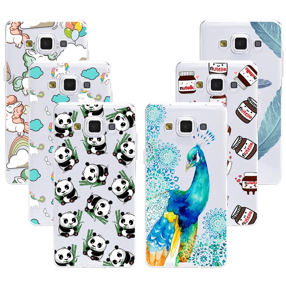 Fashion Panda Soft TPU Case For Samsung Galaxy A3 A5 J1 Mini J5 J7 J3 2016 2015 Soft Silicone Cover Phone Cases For Samsung A510