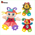 1pcs Baby Infant Soft Appease Toys Towel Playmate Calm Doll Teether Developmental Toy Lion Dog