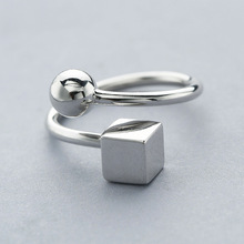 L&P New Fashion 925 Sterling Silver Ring Jewelry For Women Young Girl Simple Style Rings Gifts Adjustable Wholesale