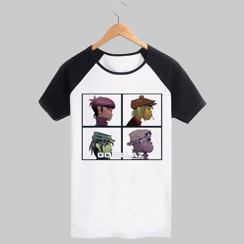 US $8 98  Gorillaz feel good inc printing tee Cartoon rock style-in  T-Shirts from Men's Clothing on Aliexpress com   Alibaba Group