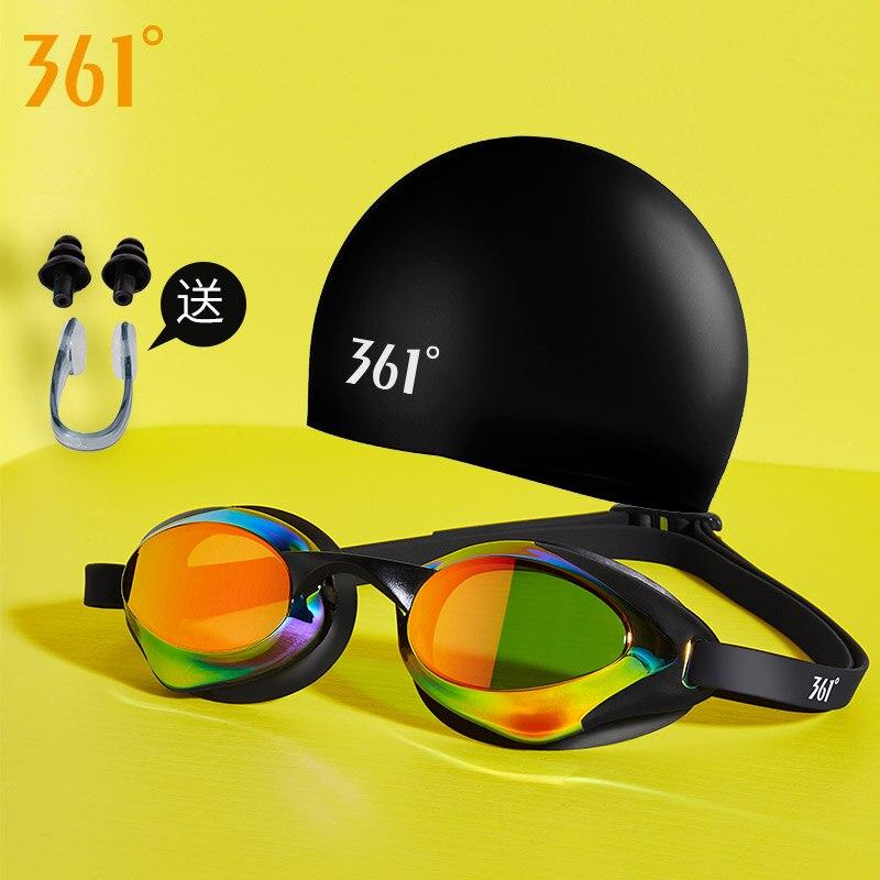 361 очки для плавания, наборы кепок для мужчин и женщин, профессиональные очки для плавания, унисекс, противотуманные зеркальные очки для плавания, водонепроницаемые очки для плавания