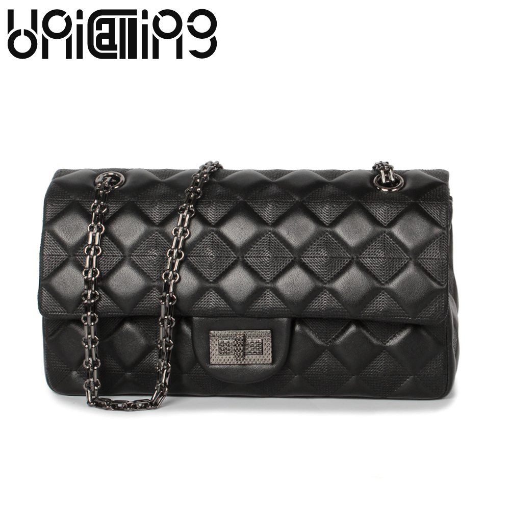 New style Diamond lattice chain small bag Top grade sheepskin shoulder bags mini women bag Genuine Leather Luxury Brand Bag fashion sheepskin mini women bag retro small fragrant bag chain diamond lattice small shoulder bags hasp women messenger bags