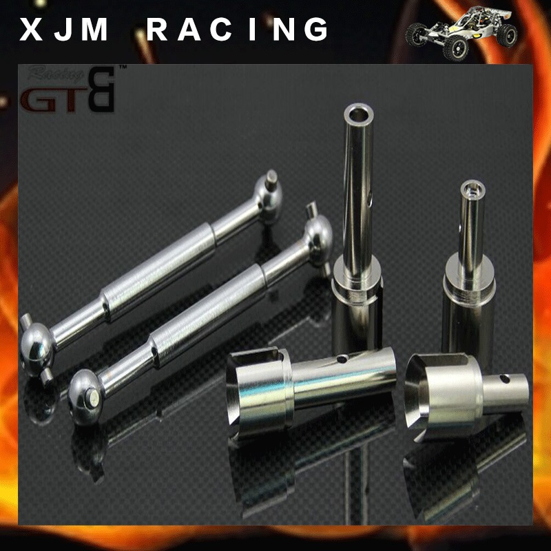 GTB Racing CNC driving shaft (Strengthen the 5 mm half shaft) set for 1/5 rc car hpi baja 5b/5t/5sc main pump combination for gtb 4 wheel hydraulic brake set fit for 1 5 rc car hpi baja 5b ss