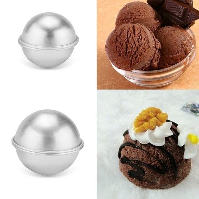 6pcs/pack Bath Bombs Metal Aluminum Alloy Bath Bomb Mold 3D Ball Sphere Shape DIY Bathing Tool Accessories Creative Mold 2