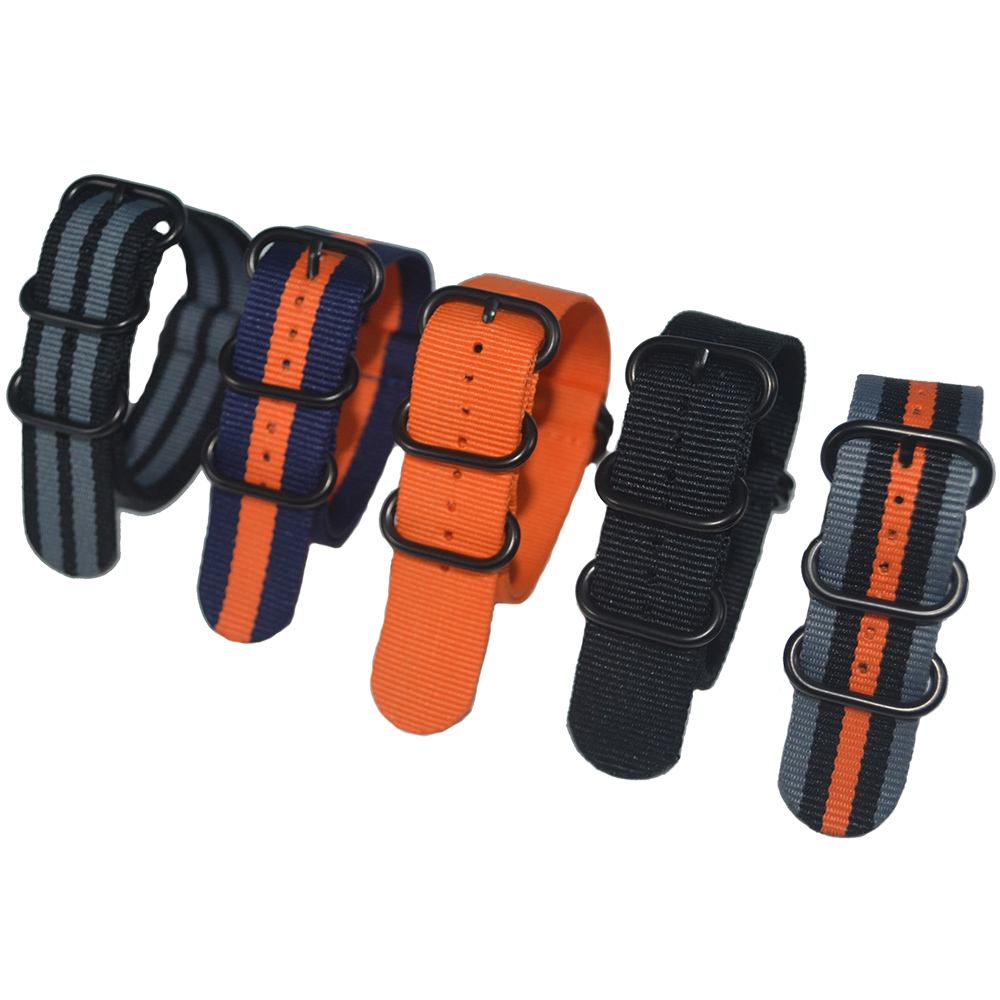 1PCS Quality 22mm Nylon Watch Band Strap Zulu NATO Strap 3.0 Buckle for Sport Wristwatch gprs real time fingerprint access guard tour system