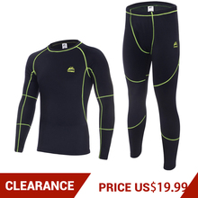 Clearance! VEOBIKE Mens Autumn Winter Fleece Thermal Underwear Outdoor Sports Cycling Bese Layer Clothing Set