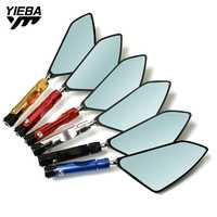 Espejos de espejo lateral retrovisores grandes para motocicleta CNC Ajuste de aluminio para KAWASAKI ZX-6 ZXR400 ZZR600 Honda CBR600 CBR900
