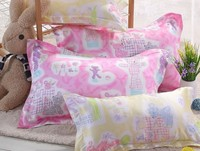 Free Shipping 100 Silk Pillowcase Standard Size 2 Sides Silk Pillow Case Cover Envelope Back Printed