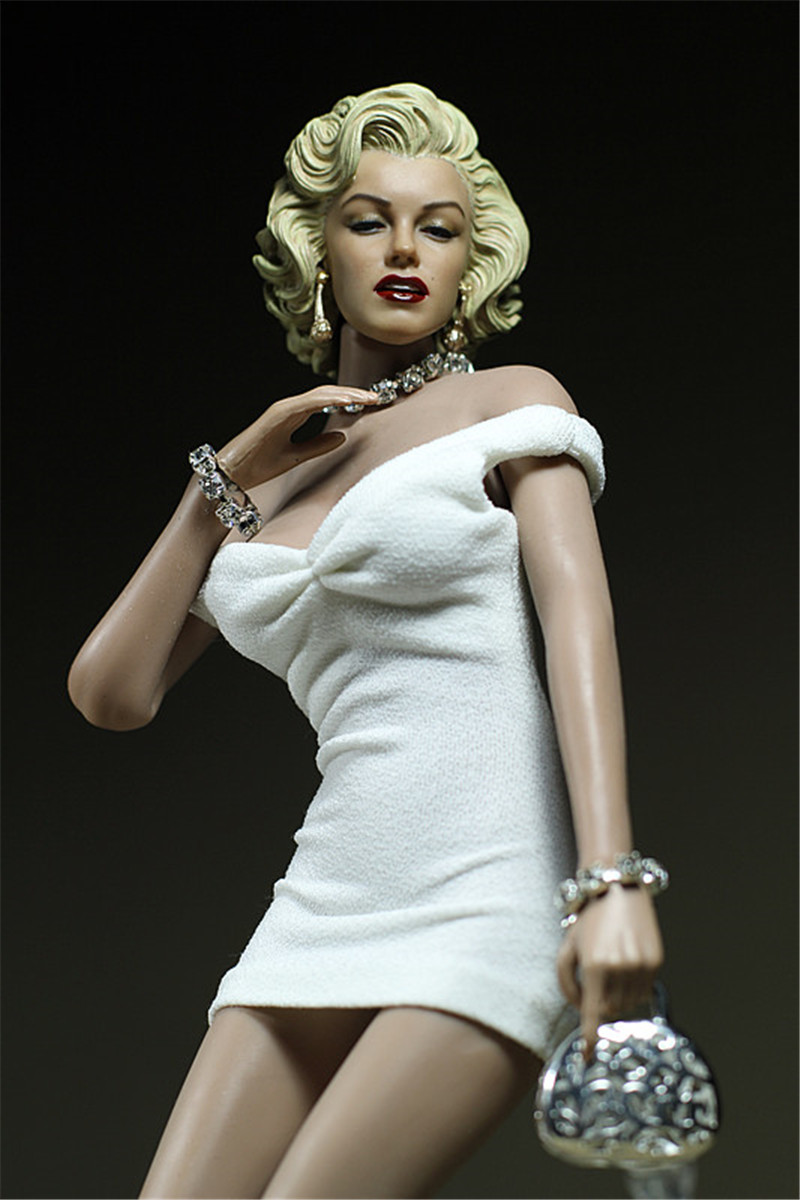 New 1/6 Marilyn Monroe Mini Skirt Model Female <font><b>Dress</b></font> Camisole Pack Hip <font><b>Sexy</b></font> Clothing Toy for <font><b>12</b></font>'' Soldier Action Figure image