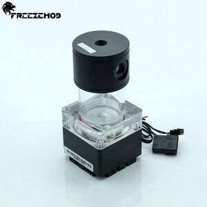 Image 2 - FREEZEMOD 140mm pump & reservoir kit Aluminum cover RGB control or AURA synchronization,PUB FS6MA 14