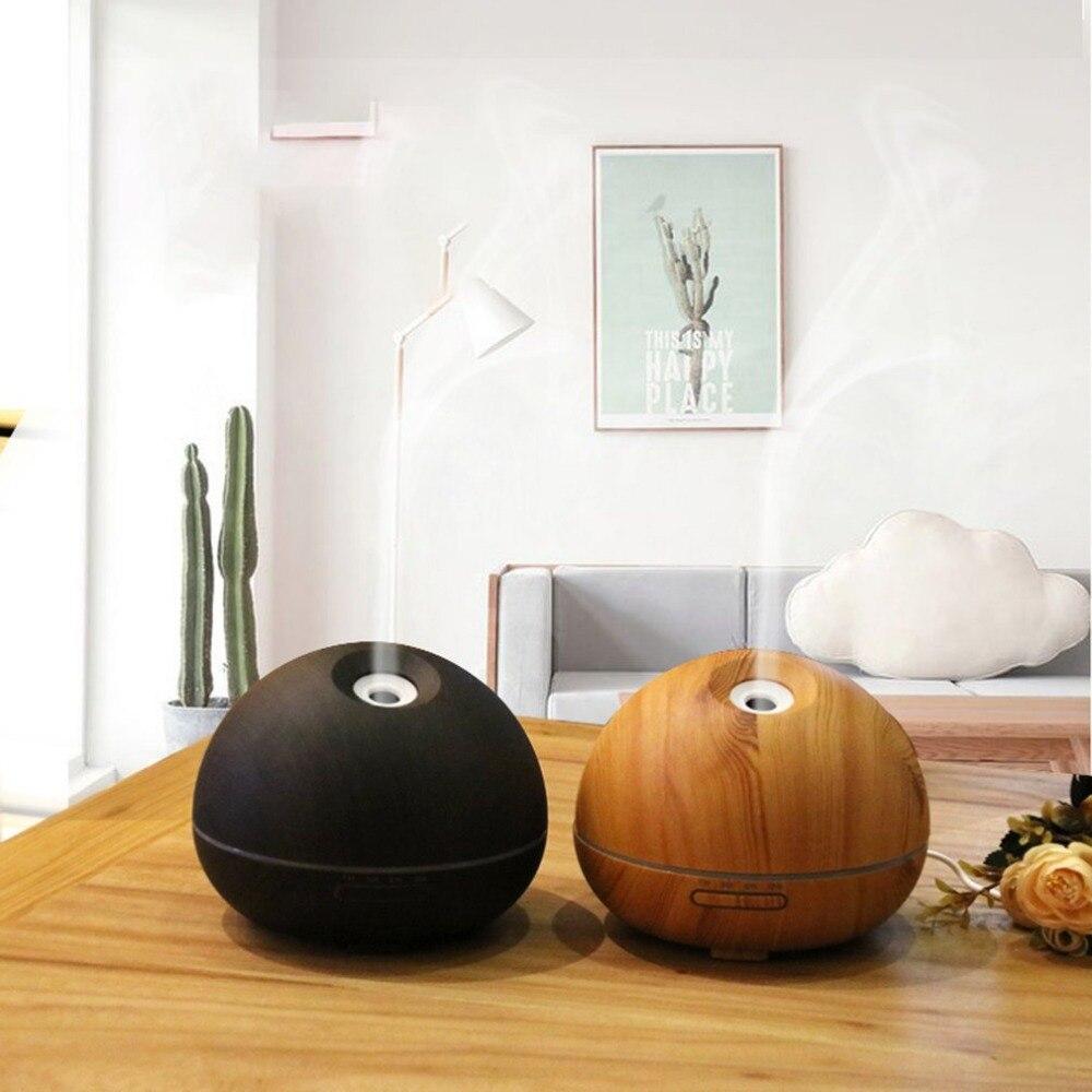 все цены на 300ml Aroma Essential Oil Diffuser Ultrasonic Air Humidifier with Wood Grain Pattern & Color Changing LED Light US Plug онлайн