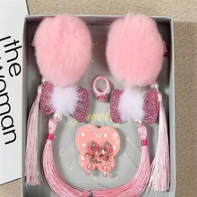 2019 Chinese Style New Year Suit Ancient Tassel Head Flower Girl Hair Accessories Set Hairpin Baby Jewelry