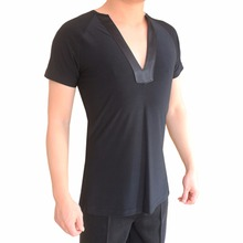 Good Quality Latin Dancing Shirts For Males More Color 2 Style Sleeves Tops For Men Professional