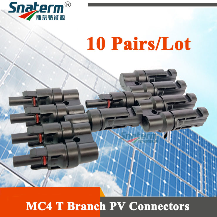 10 Pairs Lot 4 to 1 Connector Solar PV MC4 Branch Connectors Solar Panel MC4 4T