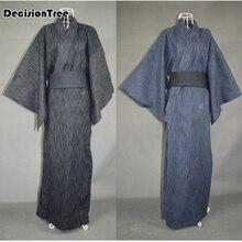 2016 hot Cool&Limited! Traditional Japanese Male Kimono Men's Robe Yukata 100% Cotton Men's Bath Robe Kimono Sleepwear