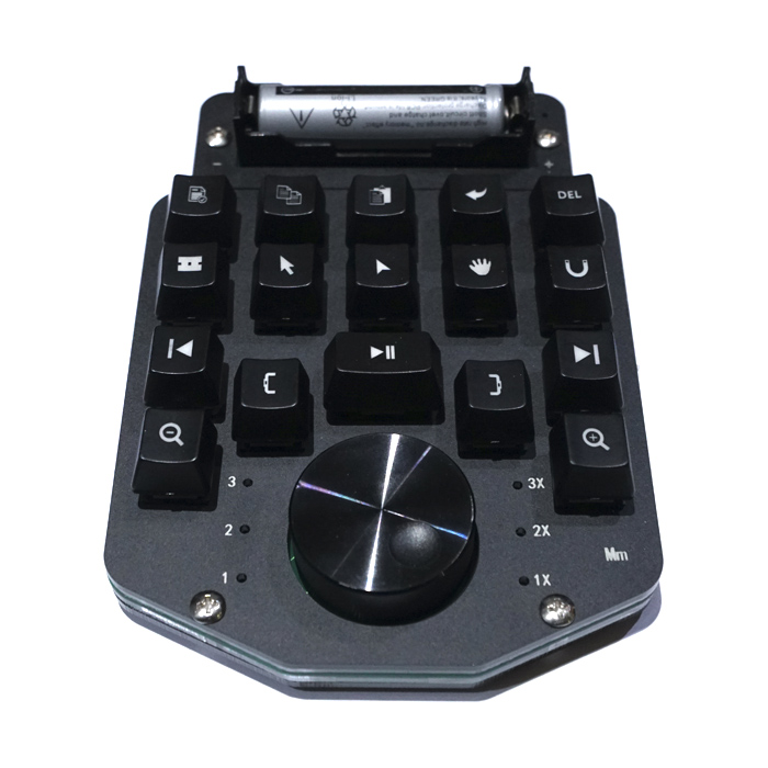Custom Wireless Video Editing Clip Keyboard Macro Hotkey With Bluetooth Shuttle Wheel For WIN Ae Pr Edius Fcpx PS Vegas DaVinci
