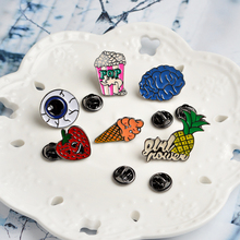 6pcs/set Best Trend Brooch Denim Jacket Jewelry Gift