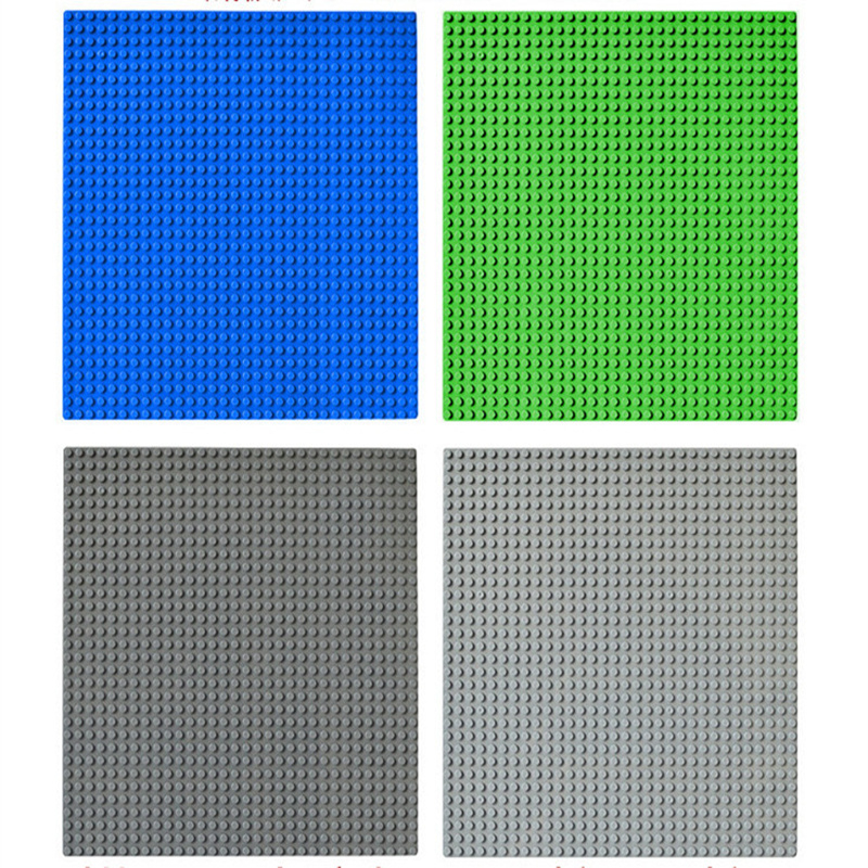 Big Size 25.5*25.5CM Baseplate Small Blocks Base Plate Not Compatible with Duploe <font><b>32*32</b></font> <font><b>Dots</b></font> building blocks DIY Base image
