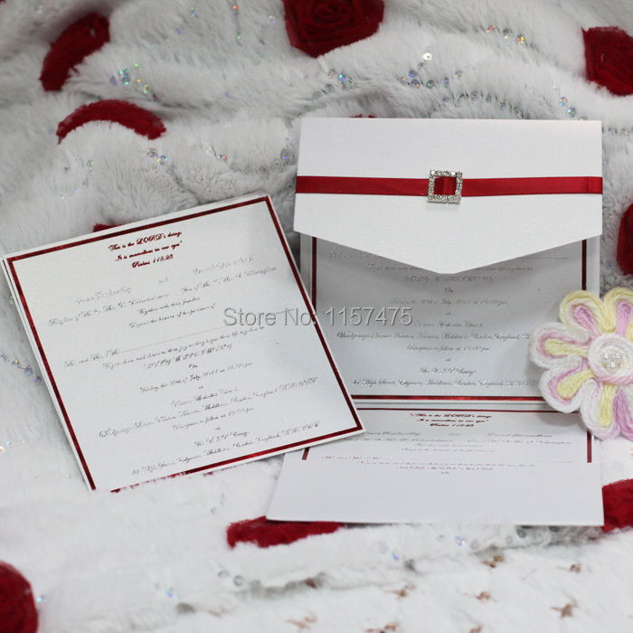 Hi5010 customized pocket fold invitation cards with ribbon and key words wedding invitation wedding invitation cards wedding cards wedding invites invitation for parties hot sale invitation simple white stopboris Gallery