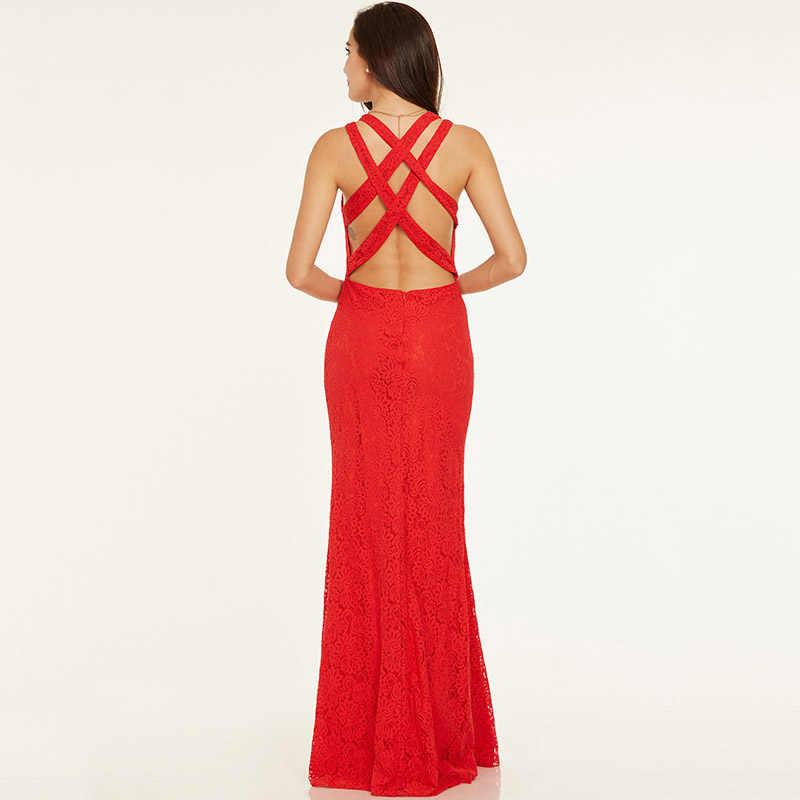 Dressv красные недорогое вечернее платье scoop шеи рукавов Кружева Крест-накрест ремни Свадебная вечеринка торжественное платье вечернее платье es