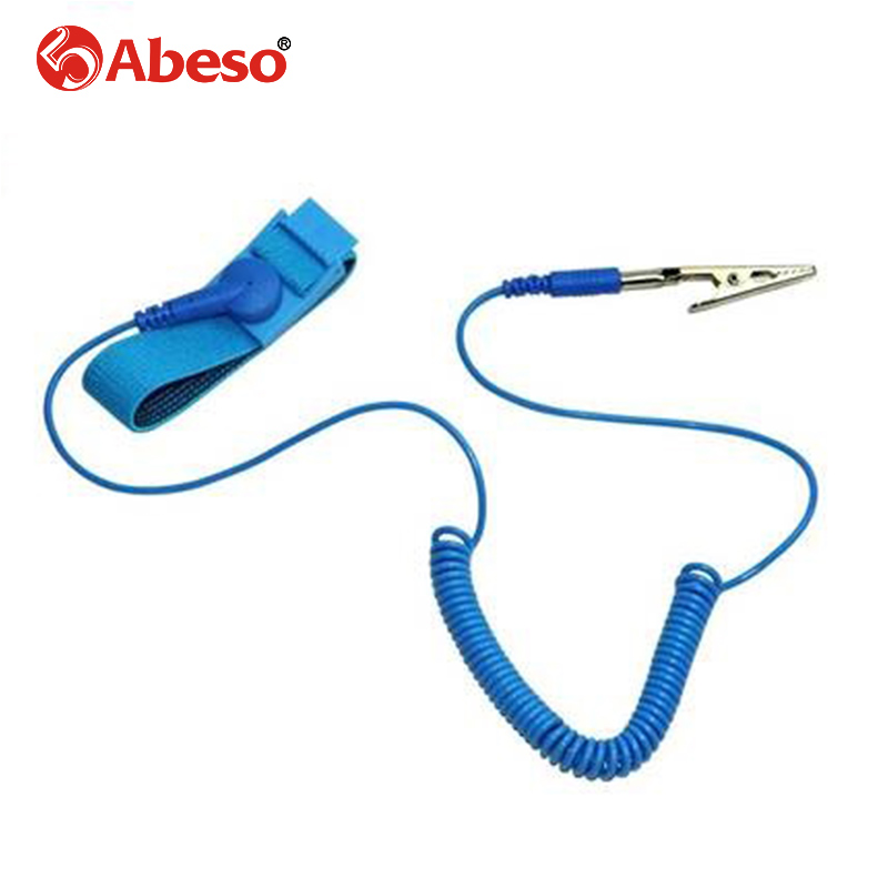 ABESO 1pc Anti Static ESD Wrist Strap Electricity Grounding Wired Wristband Discharge Band For Electronics Repair Tool A7256