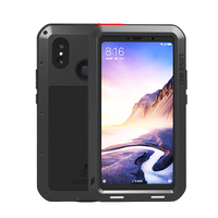 Aluminum Metal Shockproof Case For Xiaomi Mi Max 3 2 & Glass Screen 360 Full Body Protective Rugged Cover Xiaomi Max 3 Case Max3