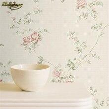 Beibehang Dormitorio no tejido del papel de empapelar rollo Rústico flor floral fondo de pantalla mural de fondo de pared para sala de estar Decoración Del Hogar