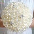 Высококачественный SSYFashion Холдинг Цветок Кристалл Бисероплетение Перл Свадебные Букеты Романтические Невесты Букеты Свадебные Аксессуары