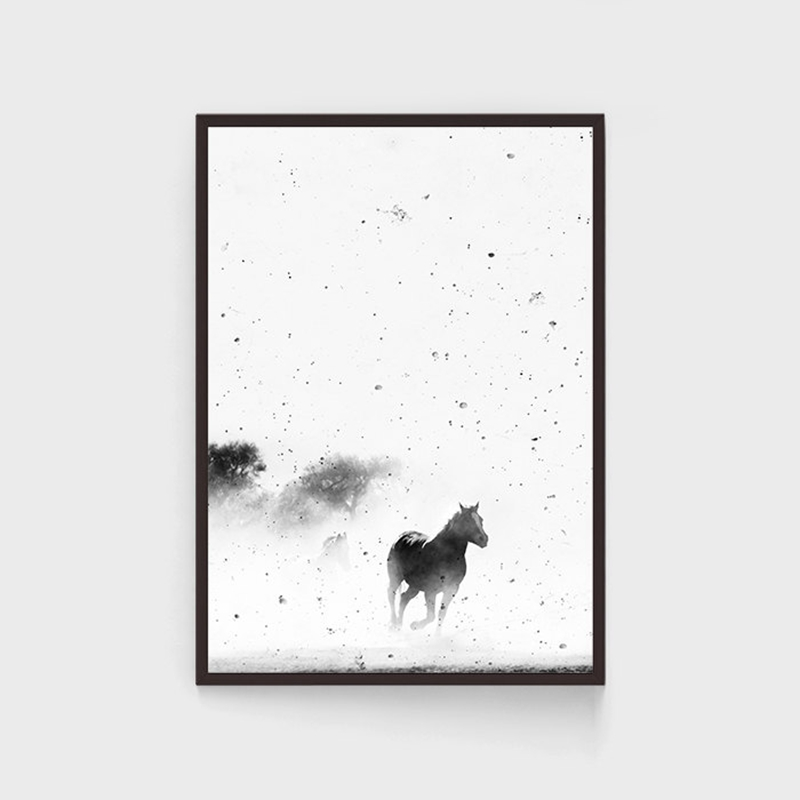 Black-and-White-Horse-Photography-Wall-Art-Canvas-Print-and-Poster-Cowboy-Horse-Quote-Canvas-Painting (3)