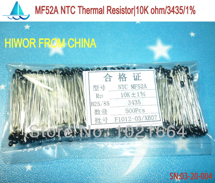product (100pcs/lot)(Thermal Resistors) 10K ohm 103 NTC Thermal Resistor B:3435 NTC TOL:1%