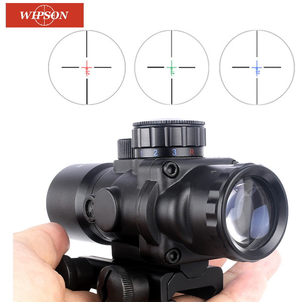 WIPSON aim optical sight 3.5 Magnification 3.5 x30 Red Blue Green Black Reticle optics Rifle Scope For Hunting airsoft air guns