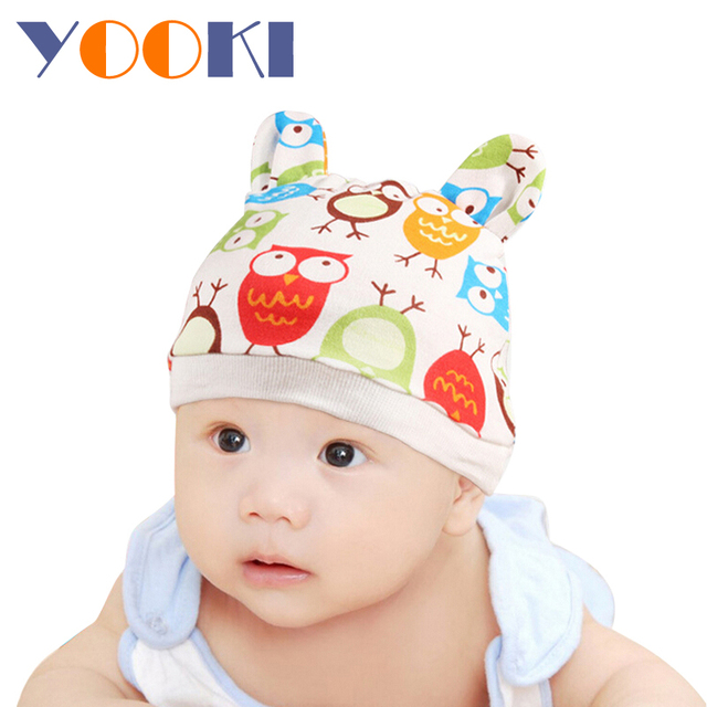 0-3 Month Baby Children Kid Hat 2015 New Fashion Photo Props Color For Random Soft Cotton Cap Protect Head Clothing Accessories