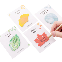 Cute Kawaii Natural Plant Leaves Leaf Sticky Note Memo Pad Note Office Planner Sticker Paper Korean Stationery School Supplies