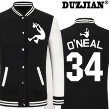 DUZJIAN Spring new Laker Shaquille O'Neal casual jacket cheap men winter jackets boys jacket hip hop maillot paris 2016