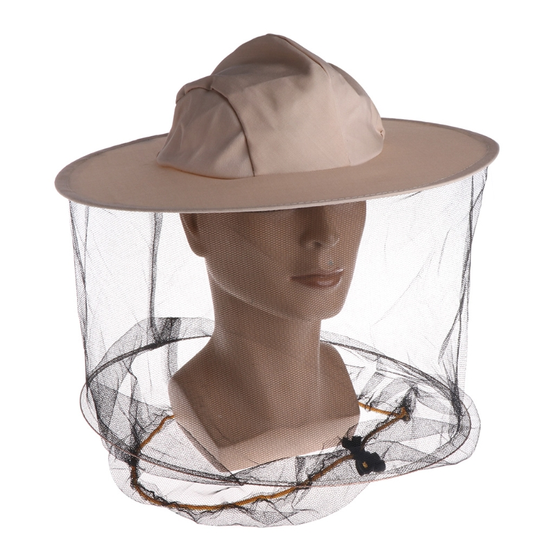 Beekeeping Head Net Hat Wide Brim Anti Bite Face Mask Cap Protective Mesh Cover