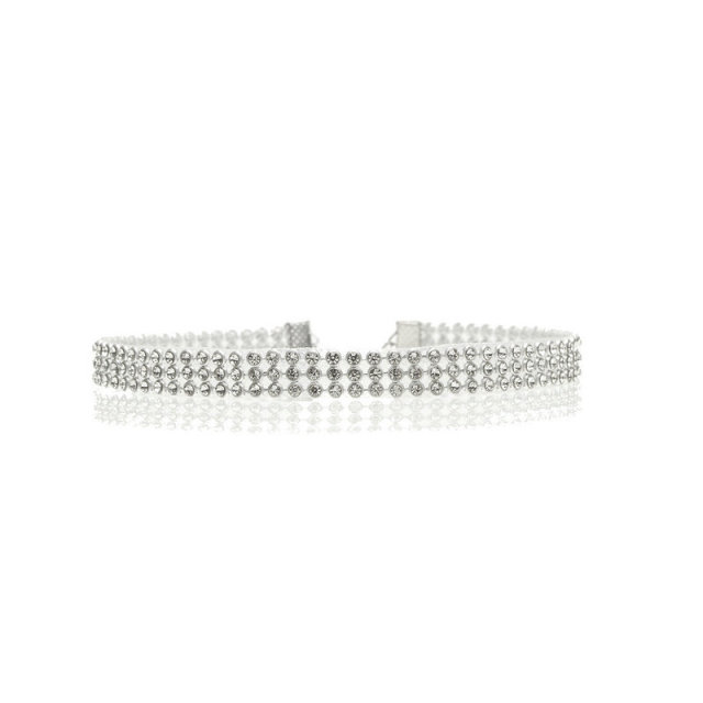 Full Crystal Rhinestone Choker Necklace