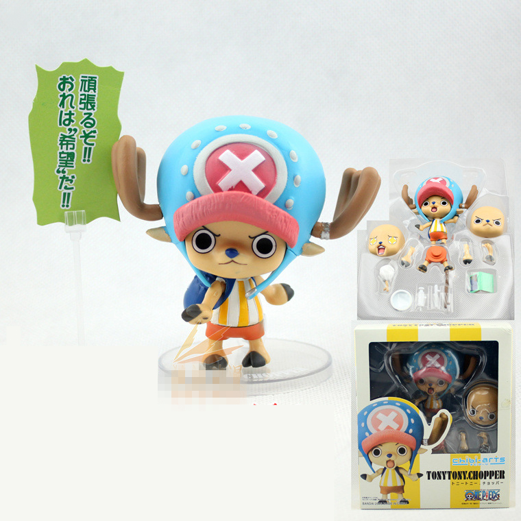 Tony Tony Chopper Japan Comic chibi-arts Japanese Anime ONE PIECE Puppets OP Model PVC 8cm boxed gift Action & Toy Figures GH340 japanese anime cartoon one piece tony tony chopper 2 years later pvc action figures toys 5pcs set with box