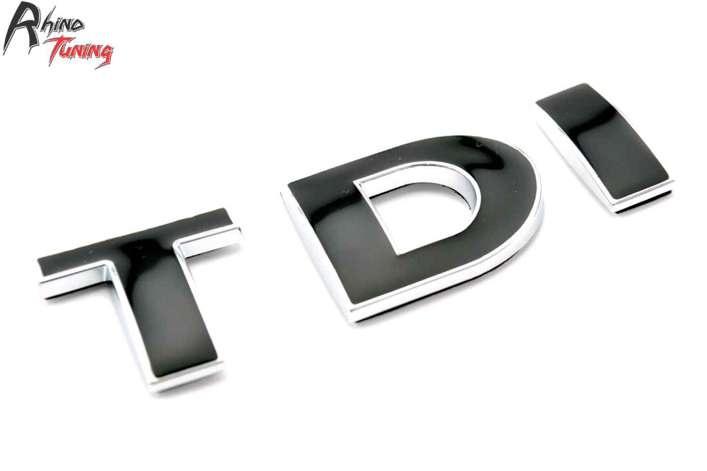 Rhino Tuning TDI Fender Car Emblem for PASSAT B5 B6 Golf MK4 MK5 MK6 Polo Side Panel Car Badge 458bk б у кпп на opel omega b 2 0 tdi
