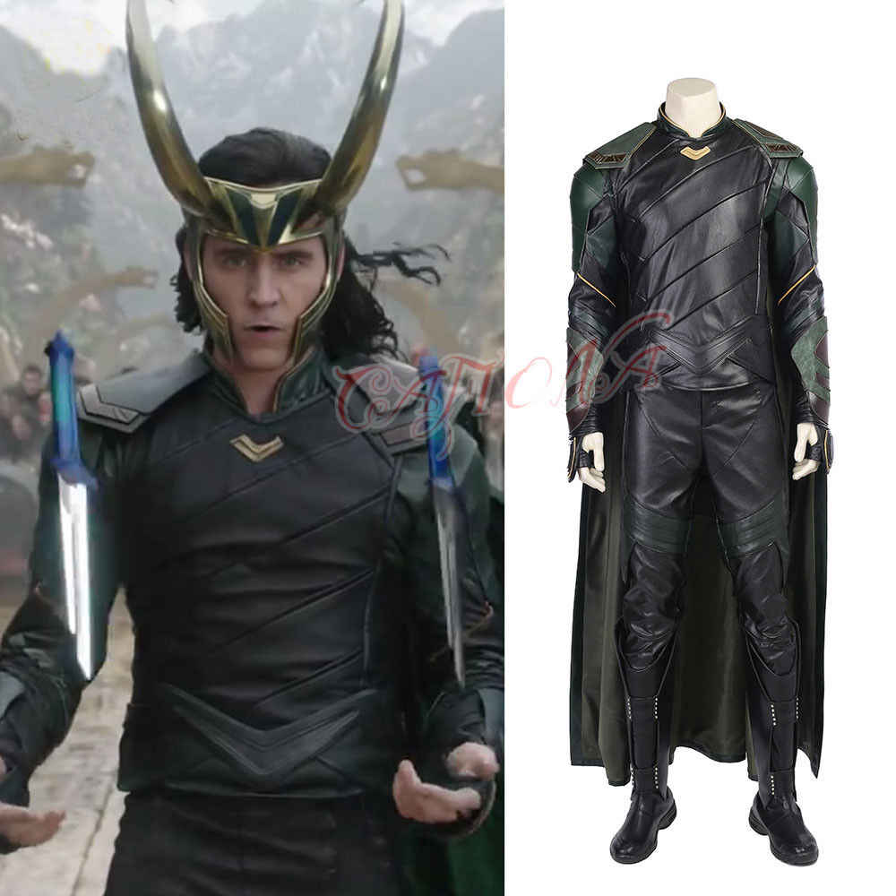 fe320fc8ab5 Cafiona Marvel Super HeroThor Odinson Loki Cosplay Costume Halloween  Outfits Cool Man