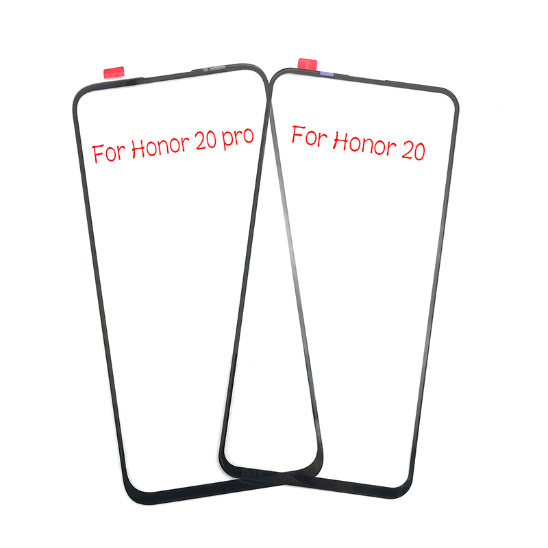 New LCD Front Outer Lens For Huawei Honor 20 Pro Front Outer Glass Lens Cover Replacement